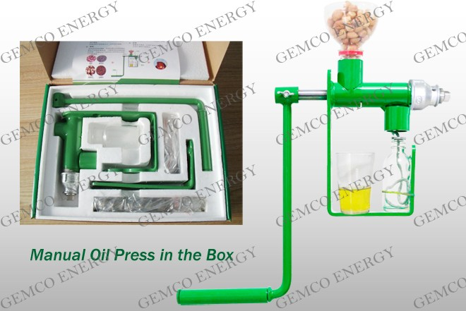 manunal oil press packed in the box